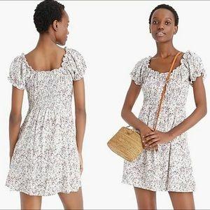 J Crew Puff Sleeve Peasant Dress